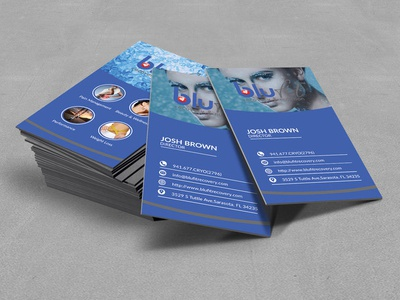 Blufit Spa Business Card