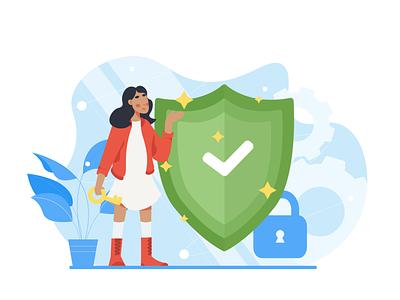 Security people security flat vector illustration art art
