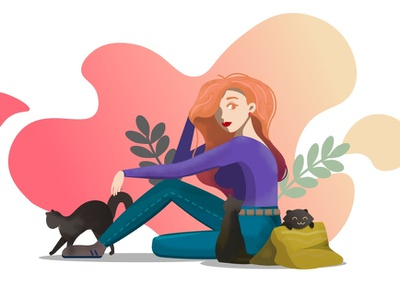 Work for Pixel School vector web design illustration