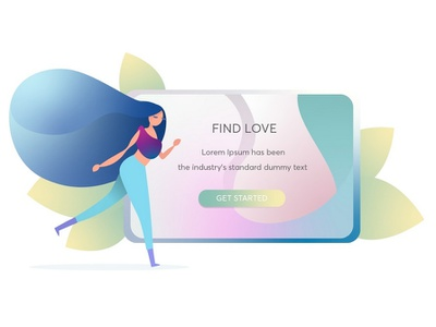 FIND LOVE? ui website logo vector design art web illustration