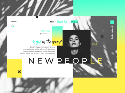 NewPeople green yellow site shop art ux ui design web