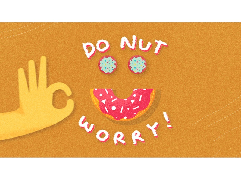 It's Okay To Eat Donuts! Digital Illustration