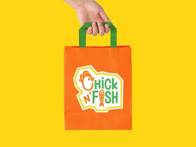 Paper Bag Design for Chick N' Fish