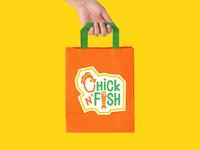 Paper Bag Design for Chick N' Fish