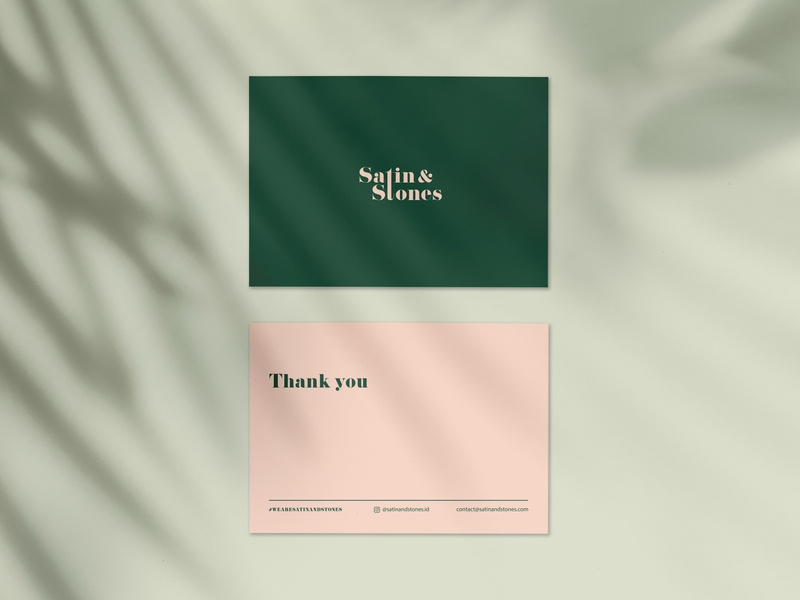Satin & Stones Thank You Card