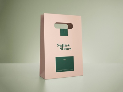 Satin & Stones Paper Bag