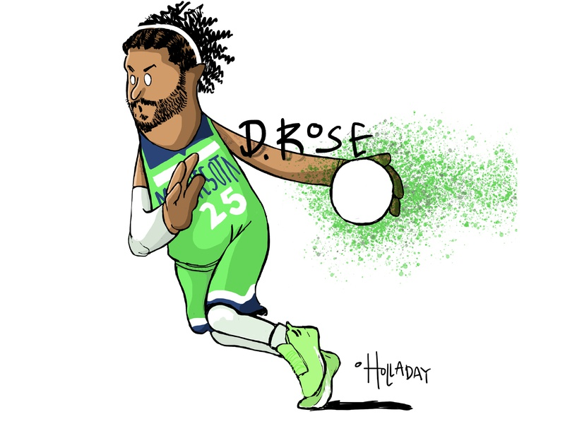 D. Rose character design cartoon illustration design