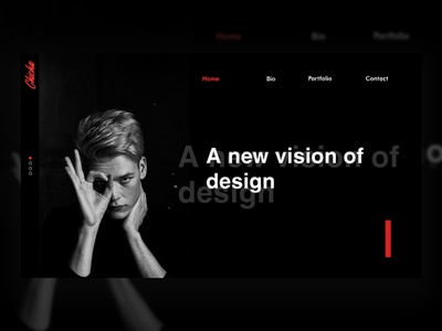 personal site ux minimal website design typography web ui