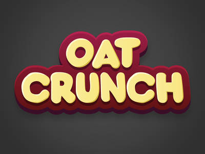 Oat Crunch oat crunch typography lettering playful packaging cornflakes
