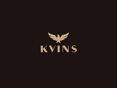 Approved logo for KVINS identity design logo illustration symbol icon symbol branding app premium bird logo bird eagle brand accessory unisex