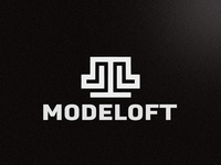 Modeloft Logo flat design agency design identity design icon symbol icon illustration branding logo designer clothing logo symbol logo