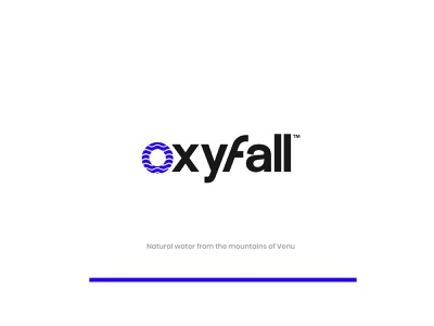 Oxyfall Logo Exploration - Concept 1 packagedesign o letter logo mineral water icon logo design identity design logo symbol icon illustration symbol branding drinking waterfall water drop water logo o logo