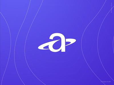 A + Orbit a letter logo design planets space symbol design symbol icon illustration branding symbol app design a icon a symbol a letter a logo design a letter logo a logo a orbit