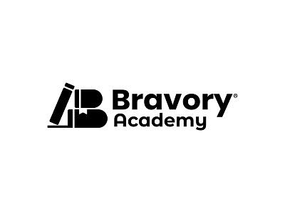 Bravory Academy Logo icon identity design symbol icon illustration symbol branding concept branding agency branding design branding logo design academy logo academy b letter b symbol b logo logo