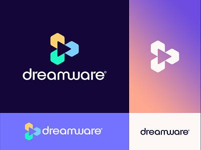 Dreamware Logo Proposal motion graphics graphic design 3d ui identity design symbol icon icon branding illustration typeface logomark logo app icon dream symbol logo logologo