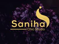 Logo for a Boutique Saniha Chic Studio Letter S logo.
