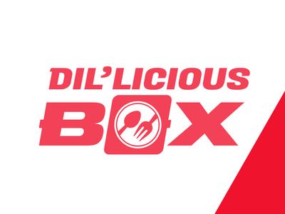 Dilicious box  Logo for a restaurant .
