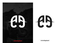 A and Elephant Logo Concept