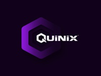 CCTV Camera brand Quinix Logo and brand identity design