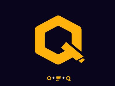 Q CCTV symbol concept