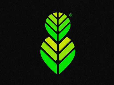 tree symbol concept for a organic farming brand