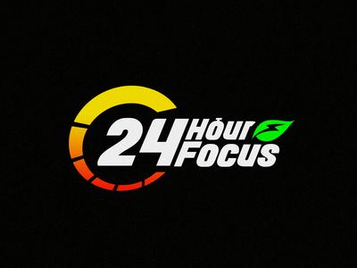 24hourfocus , A Multi Vitamin Supplements Brand Logo Concept