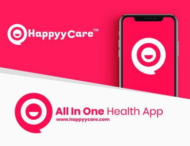Happyycare logo and brand identity design
