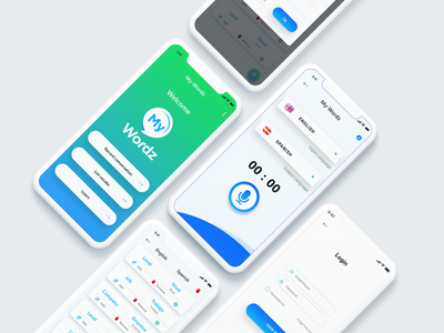 My Wordz - A Translation App appuiux design branding app