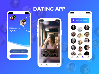 Dating App ux ui vector logo illustration icon appuiux branding app design