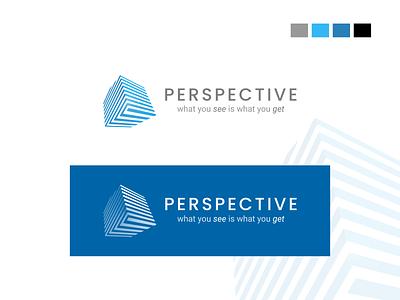 Logo Design - Perspective logobranding logodesign vector ui logo illustration icon ux appuiux branding app design