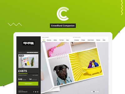 FREE Crowdfund Companion UI Kit by Naomi Atkinson