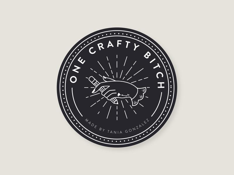 Personal Badge tattoos branding craft crafty maker create pencil hand vector flat badgedesign badge