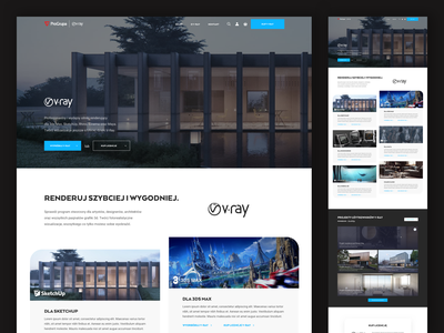 ProGrupa | V-ray - Landing Page 3d cleaning clean ui lp experience webpage web web design website ui design ui vray progrupa layout design landing page design landing page landingpage clean