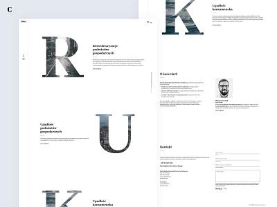 Website and brand creation for .bskc law company webpage website ux lawyer law minimal website design web design branding ui web logo design