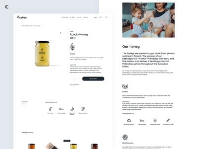 Website, branding and packages for eebee honey