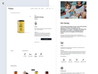 Website, branding and packages for eebee honey web design packaging clean shop store honeybee honey icon illustration experience ux ui design branding website webpage ecommerce web