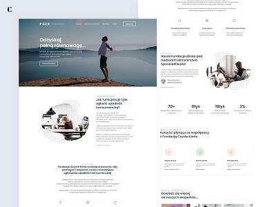 FCZK Foundation - Website clean light foundation law ui web design experience design branding website webpage web ux