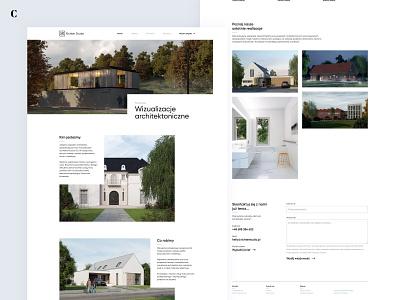 Richter Studio - Website evaluation form visualization architecture clean web design ui ux experience design branding website webpage web