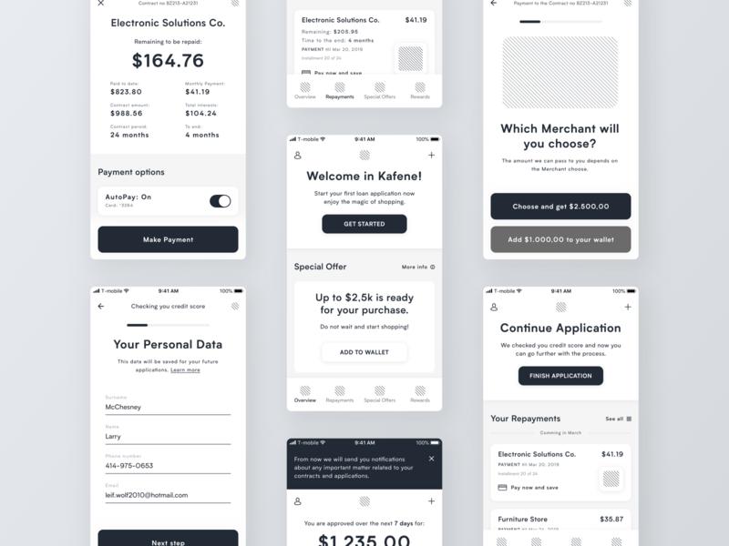 Loan App Wireframes