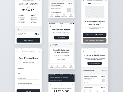 Loan App Wireframes customer finance customer experience leasing loans mobile application mobile app design mobile design mobile app wireframe finance finance app user application app design app clean experience design ux