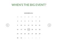 Simple Minimal Calendar.