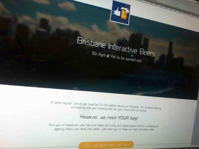 BiBs Landing Page bibs landing page yellow brisbane beer social