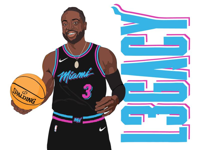 Dwyane Wade nba miami vice ipad lauren nugent design apparel graphics sports illustration illustration miami heat basketball l3gacy dwyane wade