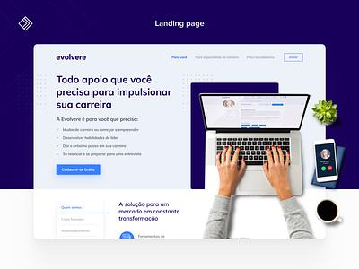 Evolvere - Landing Page web design web uidesign ui landing page interface homepage design