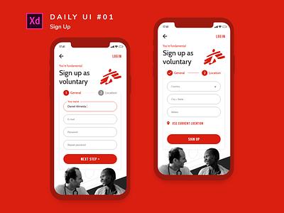 Daily UI challenge #001 ui design design user interface ui adobe xd sign up dailyui