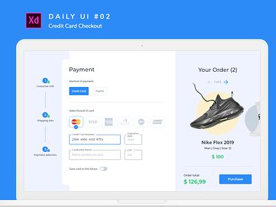 Daily UI challenge #002 dailyui shoes desktop adobexd uiux uidesign ui creditcard checkout