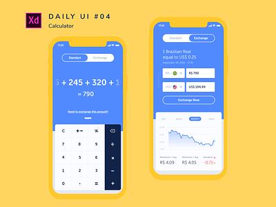 Daily UI challenge #004 challenge uidesign adobe xd dailyui design ui app calculator