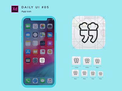Daily UI challenge #005 adobe xd design challenge uidesign logo branding app ui dailyui