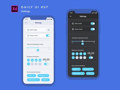 Daily UI challenge #007 calm uiux branding app adobe xd uidesign design ui dailyui