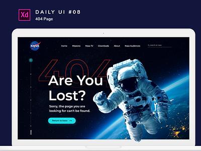 Daily UI challenge #008 nasa photoshop adobe xd desktop adobexd design uidesign ui dailyui